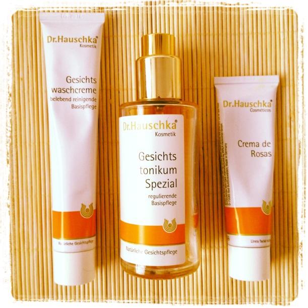 Crema facial limpiadora Dr Hauschka, Tónico Facial Especial Dr Hauschka, Crema de Rosas Dr Hauschka, marca favorita de cosmética Bio