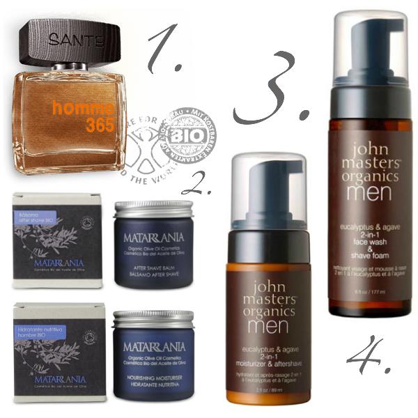 Ideas de regalo de Navidad ecológicos para Hombre, cosmética natural y orgánica
