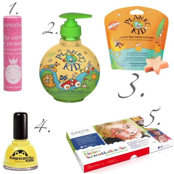 Ideas de regalos ecológicos para Navidad, para niños. Cosmética natural, orgánica, Bio. Hopscotch Kids, PLanet Kids, Sante, Apivita