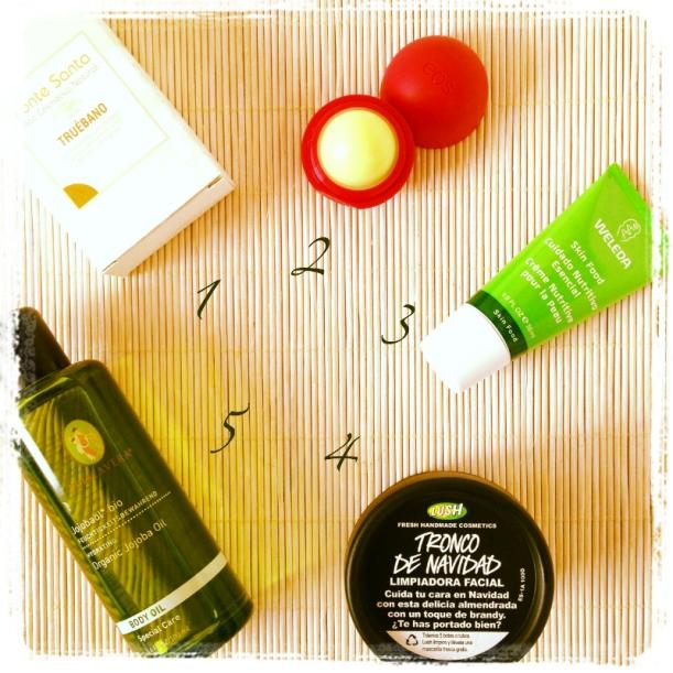 Favoritos cosmética bio orgánica ecológica Enero 2013, Weleda, lush, eos, fonte Santa, Aceite de jojoba primavera