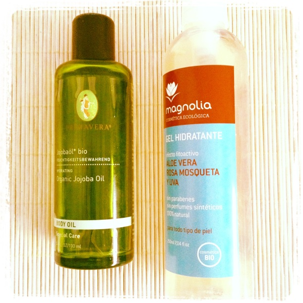 Combo aceite de jojoba Primavera y gel hidratante de aloe vera Magnolia