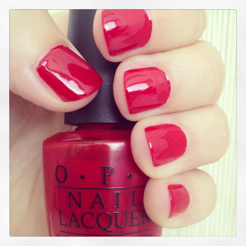 Manicura Detox #3 con O.P.I  Big Apple Red, rojo, laca de uñas 3-free