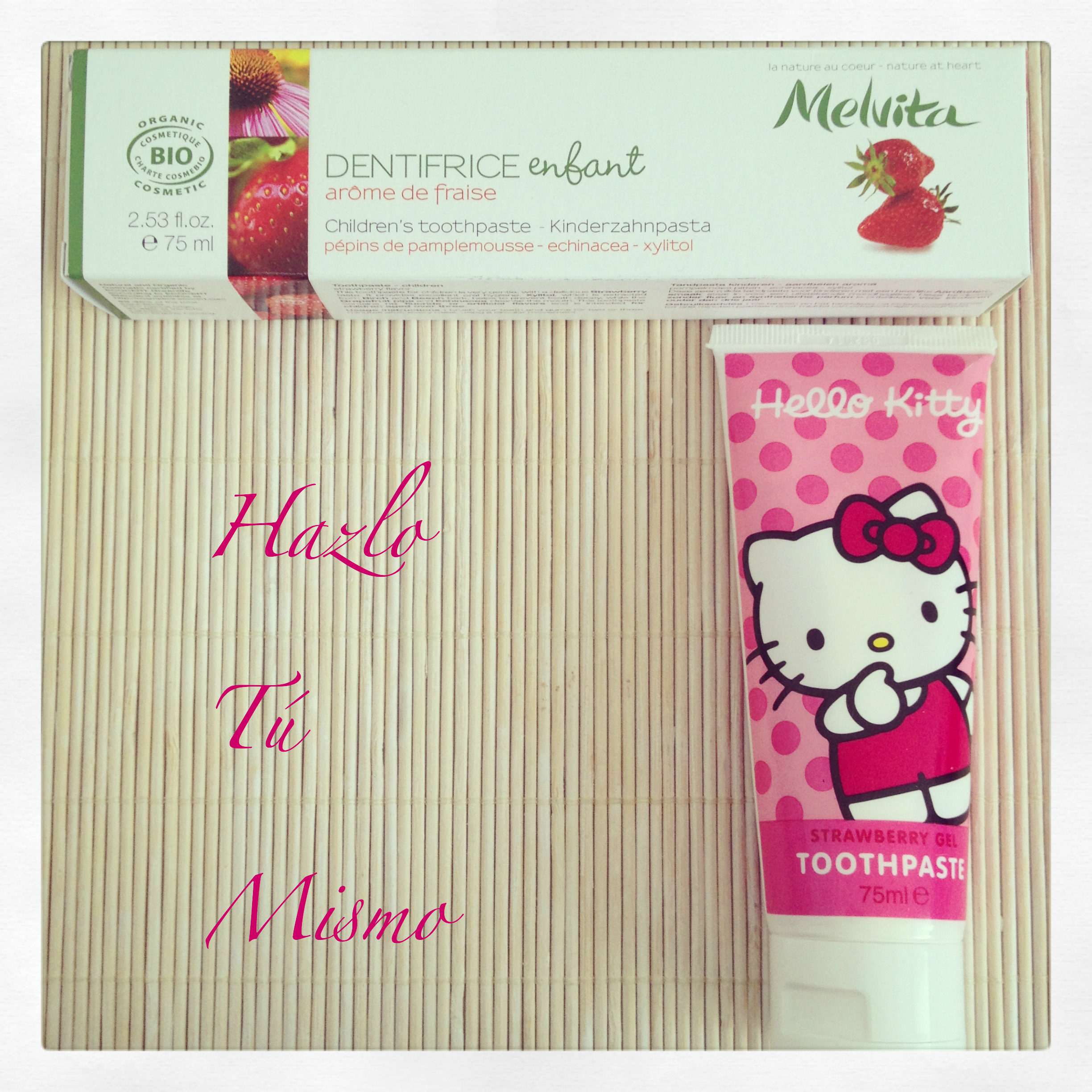 DIY Do It Yourself, Hazlo Tú Mismo dentífrico orgánico de Hello Kitty