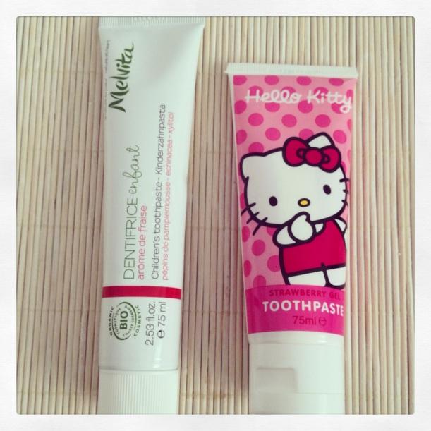 Dentífrico Hello Kitty , pasta de dientes orgánica, comparativa