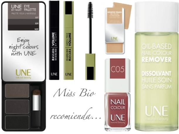 Recomendados UNE Natural beauty maquillaje natural certificado Ecocert, Máscara de pestañas. sombras, laca de uñas, corrector bbcream, aceite disolvente