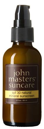 Loción solar John Masters organics SPF30, prtección solar orgánica con filtros minerales
