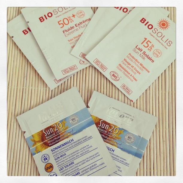 Protección solar mineral BioSolis y Lavera, cosmética orgánica certificada, Ecocert