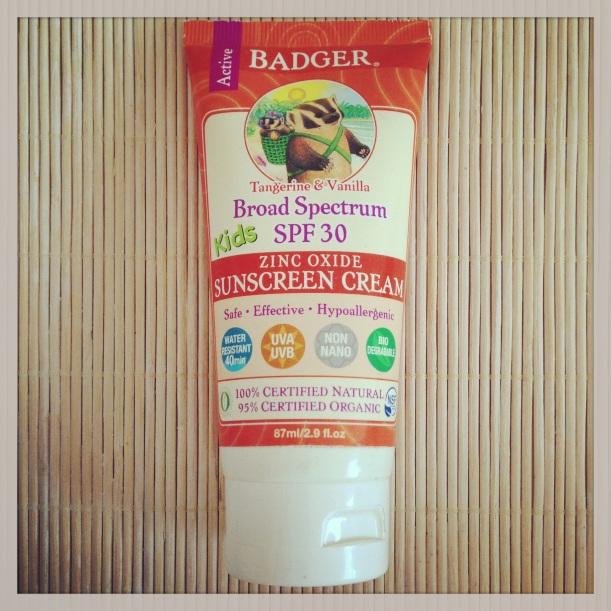 Protector solar mineral Kids SPF30 de Badger, solar infantil, cosmética certificada orgánica 100% natural