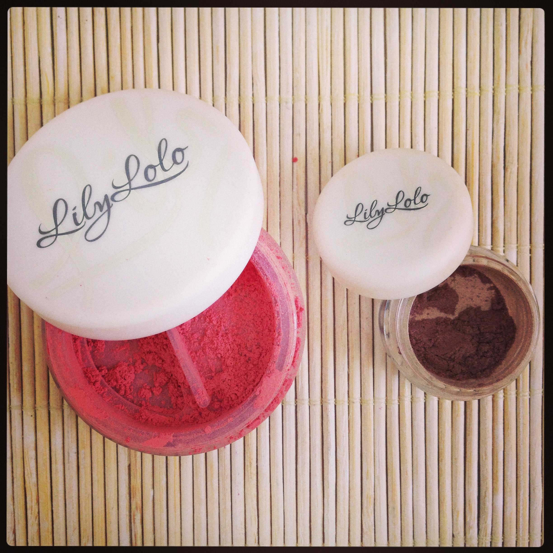 Colorete Clementin y Sombra Miami Taupe de Lily Lolo, maquillaje mineral