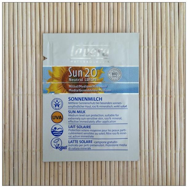 Protector solar mineral BIO SPF20 de Lavera